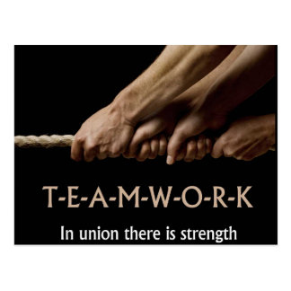 Teamwork: In union strenght Postcard