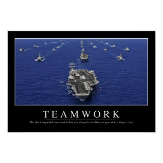 Teamwork: Inspirational Quote Poster