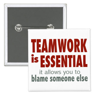 Teamwork is Essential Buttons