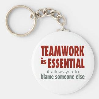 Teamwork is Essential Keychain