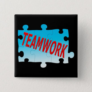 Teamwork Jigsaw Puzzle Button