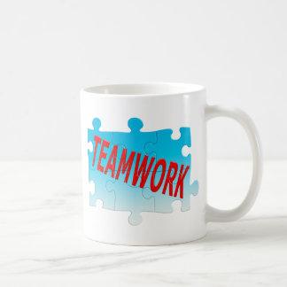 Teamwork Jigsaw Puzzle Coffee Mug