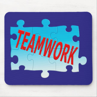 Teamwork Jigsaw Puzzle Mouse Pad