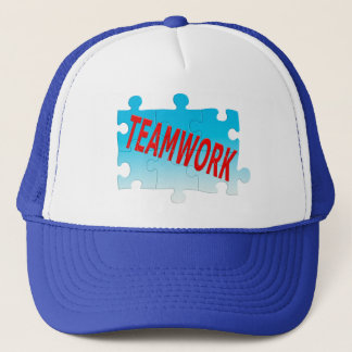 Teamwork Jigsaw Puzzle Trucker Hat