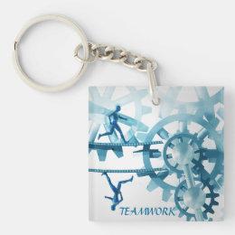 Teamwork key chain