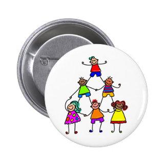 Teamwork Kids Pinback Buttons