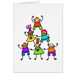Teamwork Kids Greeting Card