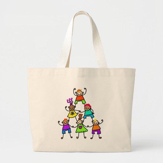 Teamwork Kids Large Tote Bag