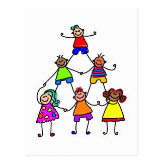 Teamwork Kids Postcard