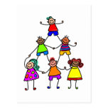 Teamwork Kids Postcards