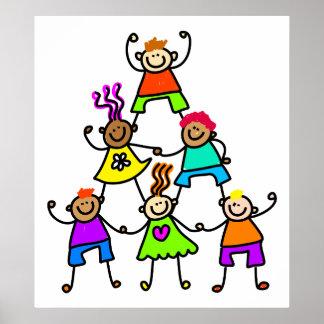 Teamwork Kids Poster