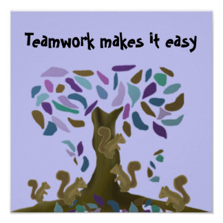 Teamwork makes it easy poster
