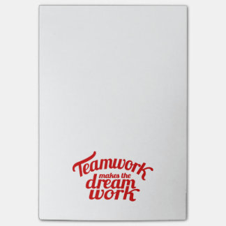 Teamwork makes the dream work post it notes post-it® notes