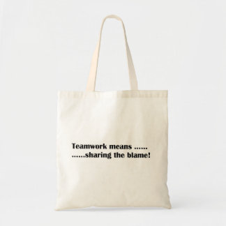 Teamwork means tote tote bags
