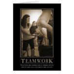 Teamwork Motivational Card