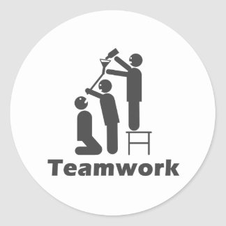 Teamwork - Motivational Merchandise Classic Round Sticker