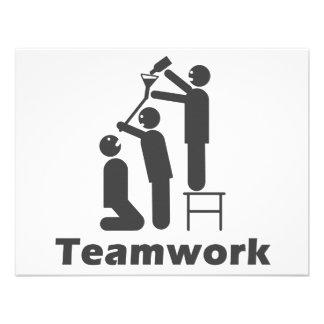 Teamwork - Motivational Merchandise Custom Invitation