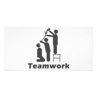 Teamwork - Motivational Merchandise Personalized Photo Card