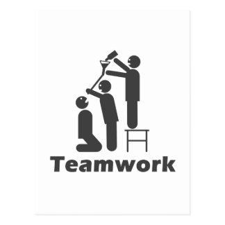 Teamwork - Motivational Merchandise Postcard