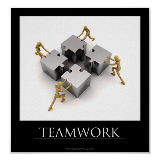 Teamwork Motivational Poster | Zazzle.com