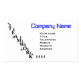 Teamwork Mountain Business Card