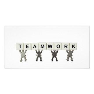 Teamwork Custom Photo Card