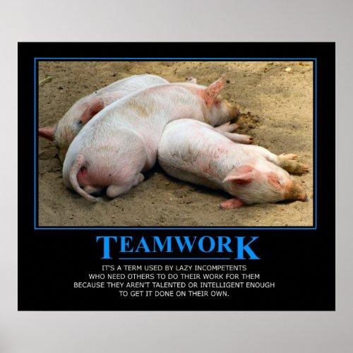 Teamwork poster by ordinarydiva