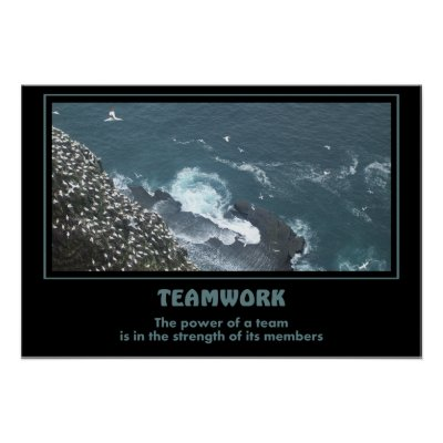 Teamwork Motivational Posters on Great Motivational Poster For The Value Of Teamwork   And