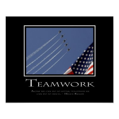 Teamwork Motivational Posters on Welcome To The Inspirational Posters Store