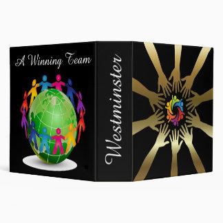 Teamwork - School / Business Notebook Binder - SRF