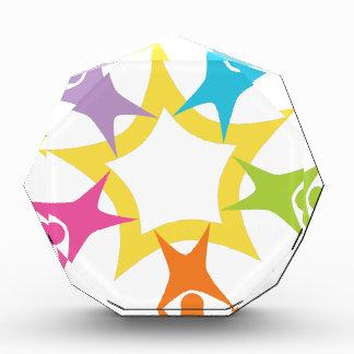 Teamwork Starburst Acrylic Award