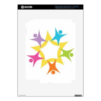 Teamwork Starburst Skin For iPad 3