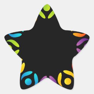 Teamwork support star sticker