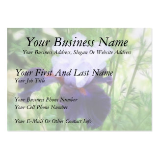 Teamwork - Tall Bearded Iris Large Business Card