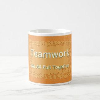 Teamwork We All Pull Together Coffee Mug