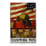 Teamwork Wins Poster