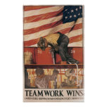 Teamwork Wins Posters