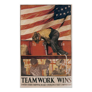 Teamwork Wins Posters