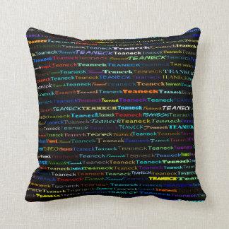 Teaneck Text Design I Throw Pillow