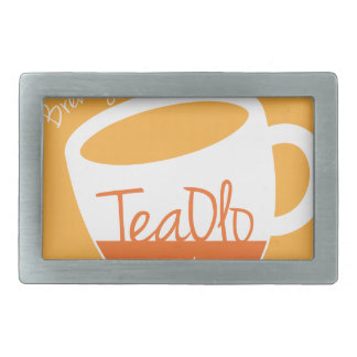 TeaOlo Brewing Smiles Orange Fit Rectangular Belt Buckle