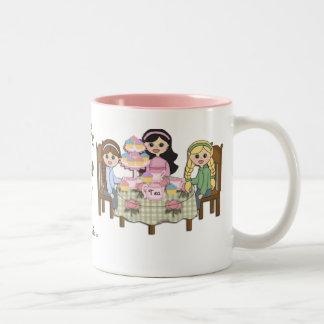 teaPartiesMug Two-Tone Coffee Mug