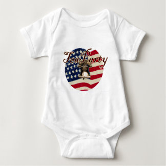Teaparty Flag and Liberty Bell Baby Bodysuit