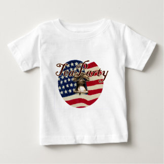Teaparty Flag and Liberty Bell Baby T-Shirt
