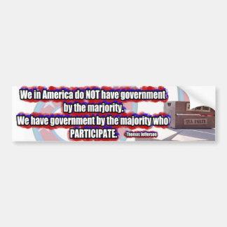 TeaParty Jefferson Participate Bumper Sticker