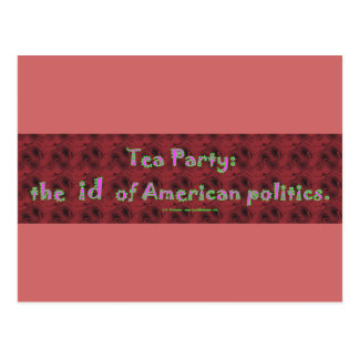TeaPartyId Postcard