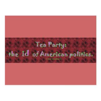 TeaPartyId Postcard
