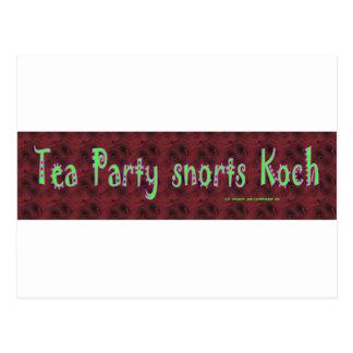 TeaPartySnortsKoch Postcard