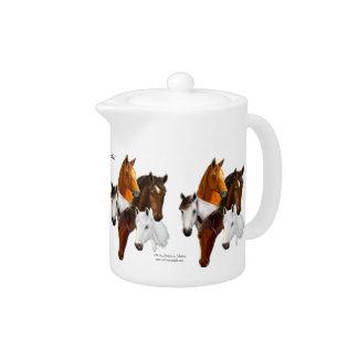 Teapot, 5 Horse Heads Teapot