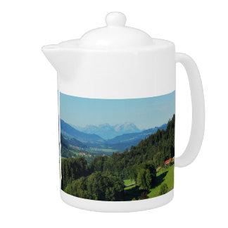 Teapot alpine panorama with Säntis