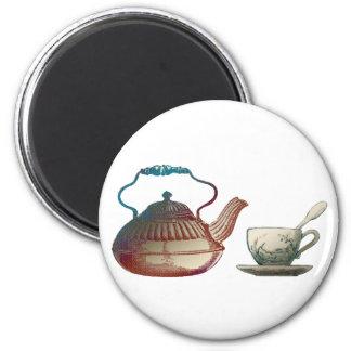 Teapot and Teacup Art Magnet